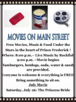 Movies on Main Street in Prince Frederick