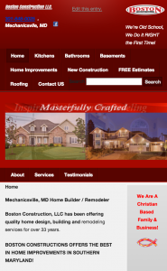 boston construction located in Mechanicsville MD